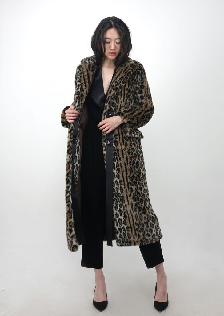 Leopard Ribbon Coat